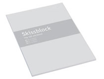 Skisspapper A3 transparent 50st/block