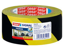 Tesa Varningstejp gul/svart 50mmx66m