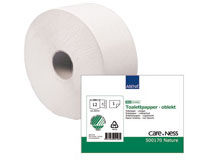 Toalettpapper Care-Ness Mini Natur 12 rullar/kt