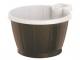 Bägare/kaffekopp med öra 21cl brun/vit 50st/rör