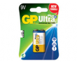 Batteri GP Ultra Plus Alkaline E/9V/6LF22 1st/fp
