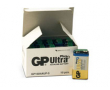 Batteri GP Ultra Plus Alkaline E/9V/6LF22 10st/fp