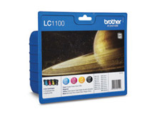 Bläckpatron Brother LC1100V Valuepack CMYK
