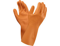 Latexhandske Orange Versa stl 7 12st/fp