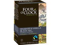 Four Oclock Svart te Four O´Clock Eko Rabarber och vanilj 16st/fp